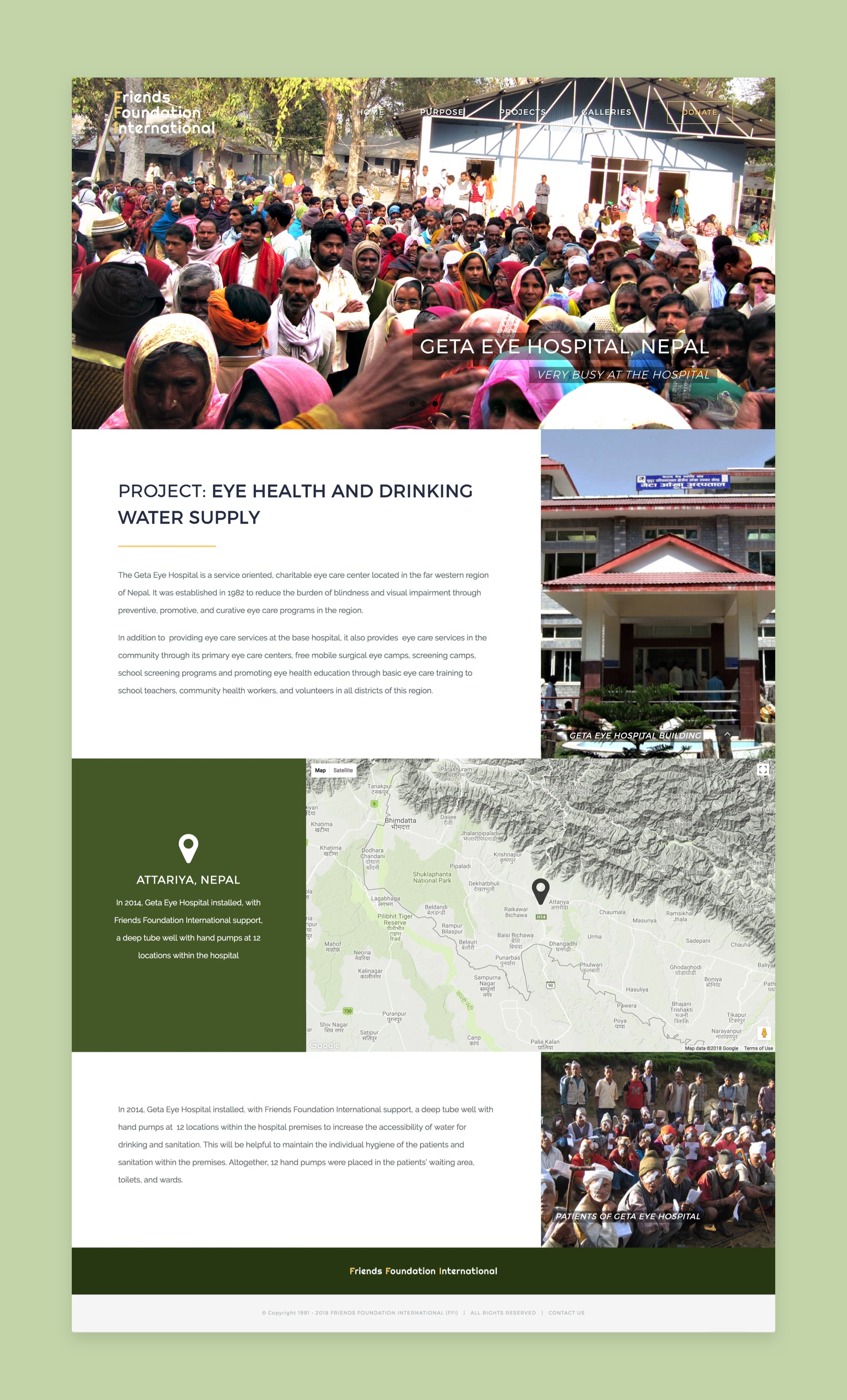 Project page of Friends Foundation International website
